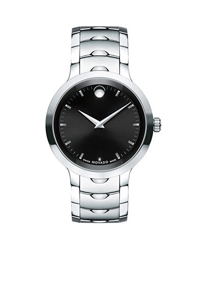Movado Men's Luno Silver-Tone Stainless Steel Watch