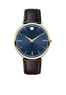Movado Gold-Tone Ultra Slim Blue Men's Watch