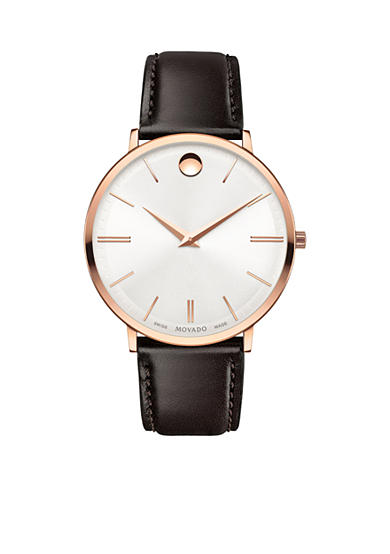 Movado Men's Ultra Slim Rose Gold-Tone Watch