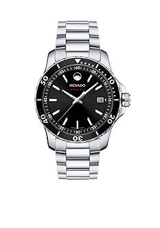 Movado Men's Series 800 Black Dial Watch