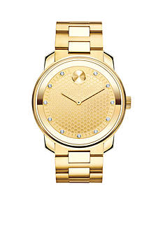 Movado Gold Large Bold Watch