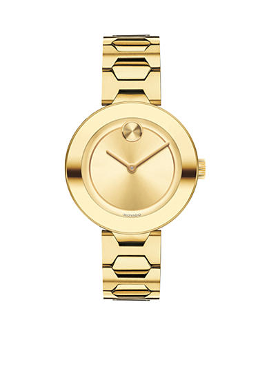 Movado Women's Bold Yellow Gold-Tone Watch