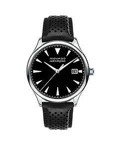 Movado Men's Heritage Series Calendoplan Black Leather Watch