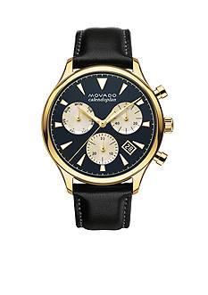 Movado Men's Heritage Series Calendoplan Blue Dial Watch