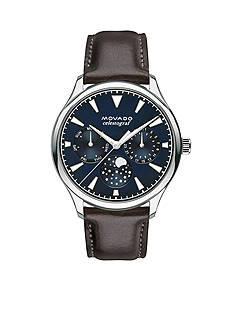 Movado Silver-Tone UltraSlim Black Ladies Watch