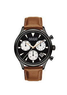 Movado Stainless Steel Men's Heritage Series Calendoplan Chronograph Watch