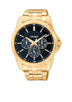Citizen Men's Quartz Gold-Tone Multi-Function Watch