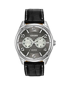 Citizen Men's Dress Stainless Steel with Day and Date Sub Dials Watch