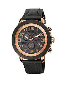 Citizen Unisex BRT Black IP Stainless Steel Chronograph Strap Watch