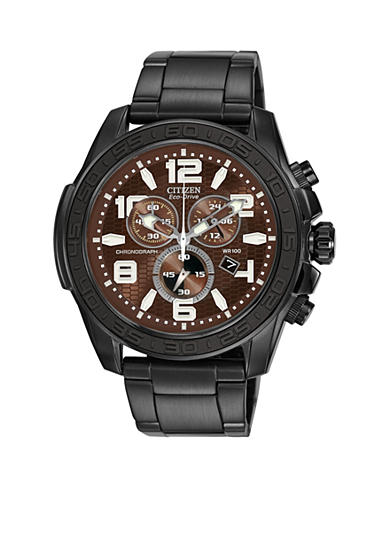 Citizen Men's Black Ion Plated Chronograph Watch