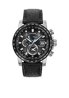 Citizen Men's Eco-Drive World Time A-T Black Dial Watch