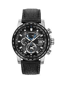Citizen Men's Eco-Drive World Time A-T Black Dial Watch
