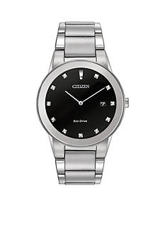 Citizen Eco-Drive Men's Silver-Tone Axiom Watch