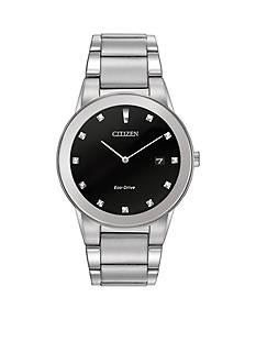 Citizen Eco-Drive Men's Silver-Tone Axiom Watch