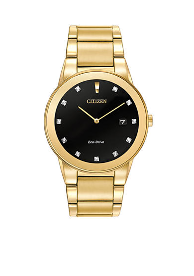 Citizen Eco-Drive Men's Gold-Tone Axiom Watch