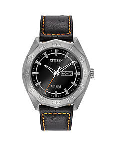 Men's Silver-Tone Titanium Citizen Eco-Drive Watch
