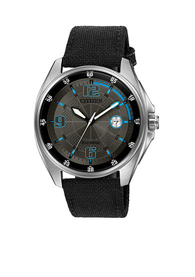 Citizen Men's Stainless Steel Black Dial Watch