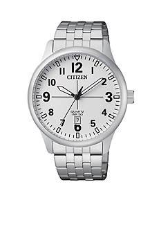 Citizen Men's Silver-Tone Quartz Watch