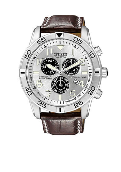 Citizen Men's Eco-Drive Stainless Steel Chronograph Watch - Online Only