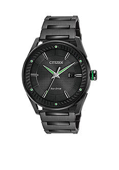 Men's Black Stainless Steel Citizen Eco-Drive Watch