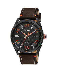 Citizen Men's Drive From Citizen Eco-Drive Brown Leather Watch