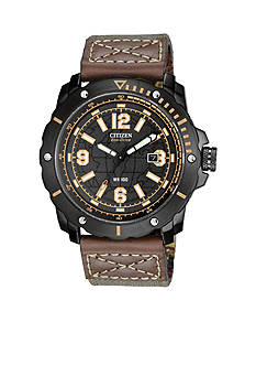 Citizen Men's Black Ion Plated Chronograph Strap Watch
