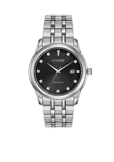 Citizen Men's Eco-Drive Diamond Accent Watch