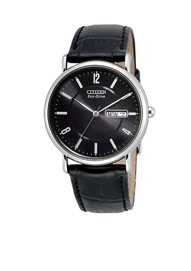 Citizen Men's Eco-Drive Watch with Leather Strap