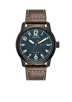 Citizen Men's Citizen Eco-Drive Leather Strap Watch
