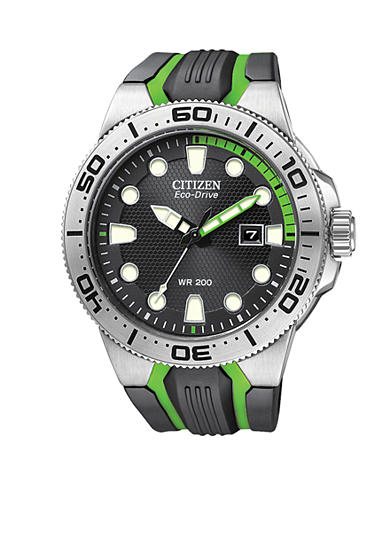 Citizen Eco-Drive Stainless Steel Scuba Fin Watch