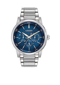 Citizen Men's Eco-Drive Stainless Steel Dress Blue Dial Watch