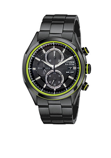 Drive from Citizen Eco-Drive Men's Drive Black Ion Plated Chronograph Watch