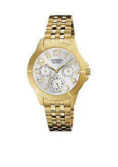 Citizen Women's Stainless Steel and Gold Quartz Watch