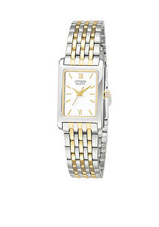 Citizen Ladie's Square Two Tone Watch