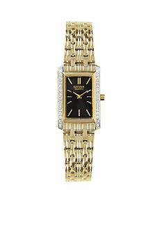 Citizen Quartz Women's Gold Tone Swarovski® Crystal Bezel Watch