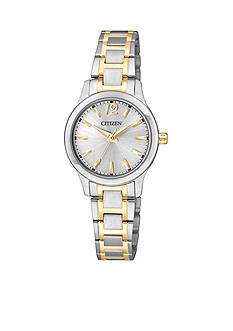 Citizen EDV Women's Quartz Two Tone Stainless Steel Three Hand Basic Watch