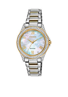 Citizen Women's Two Tone Stainless Steel Swarovski Watch