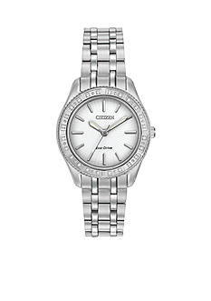 Citizen Eco-Drive Stainless Steel Diamond Bezel Dress Watch