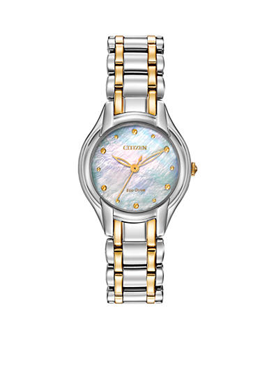 Citizen Women's Eco-Drive Two Tone Stainless Steel Diamond Watch