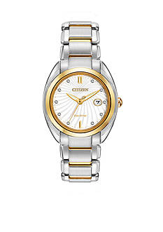 Citizen Women's Eco-Drive Two Tone Celestial Diamond Dial Watch