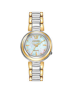 Citizen Women's L Sunrise Eco-Drive Two Tone Diamond Watch