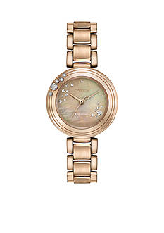 Ladies' Rose Gold-Tone Stainless Steel Citizen L Carina Watch