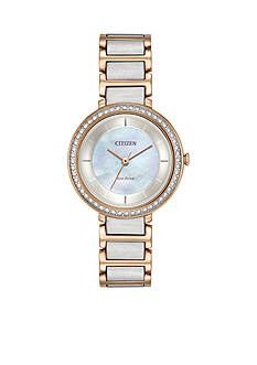 Citizen Ladies' Eco-Drive Paradex Two-Tone Stainless Steel Watch