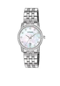 Citizen EDV Women's Swarvoski Crystal Stainless Steel Watch
