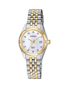 Citizen Women's Two-Tone Crystal Accent Quartz Watch