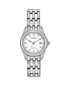 Citizen Women's Eco-Drive Stainless Steel Silhouette Swarovski Watch