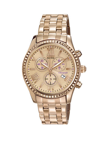 Citizen Women's Rose Gold Tone Chronograph Watch
