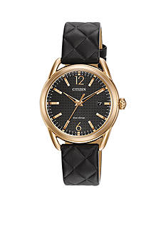 Ladies' Rose Gold-Tone Stainless Steel Drive From Citizen Watch