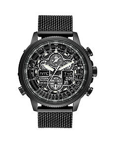 Citizen Men's Eco-Drive Navihawk A-T Black Ion Plated Stainless Steel Watch