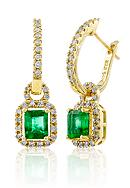 Belk & Co. 14k Yellow Gold Emerald and Diamond